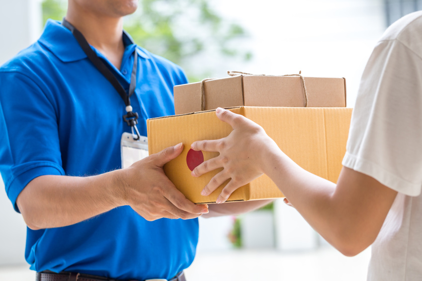 Secure parcel delivery to customer premises