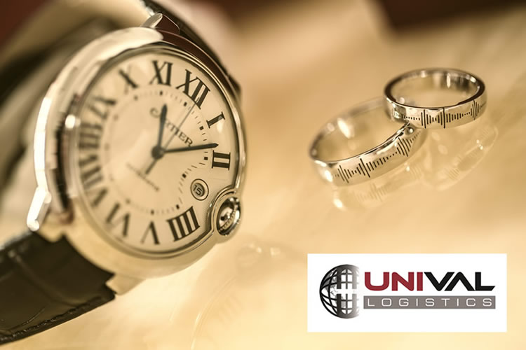 Unival Logistics provides high value shipping insurance for items such as watches, rings, bracelets and other jewelry